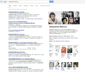 Google Knowledge Graph per Alessandro Baricco | Flow il blog di Liquid, Alessandro Santambrogio