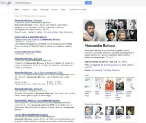 Google Knowledge Graph per Alessandro Baricco | Flow il blog di Liquid, Alessandro Santambrogio
