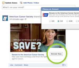 Facebook - Bottone Donate